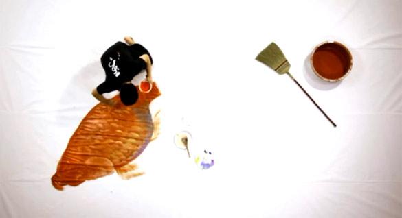 Јапонски уметник нацрта гигантска златна рипка