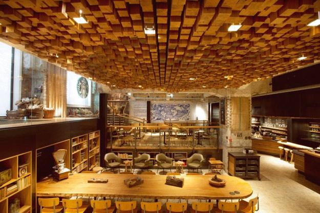 Една од најголемите Старбакс кафетерии во светот