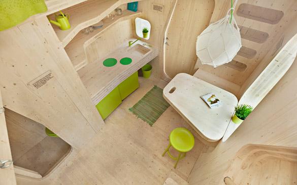 Еко-куќа за студенти од 10м²