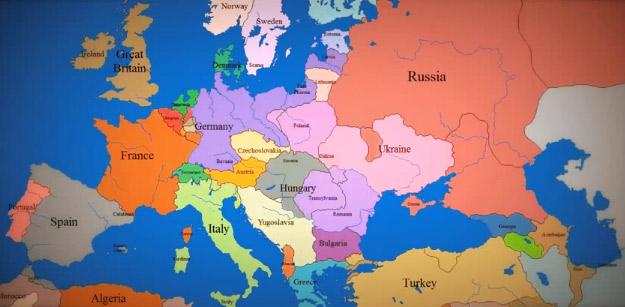 Како се менуваше картата на Европа изминатите 1013 години