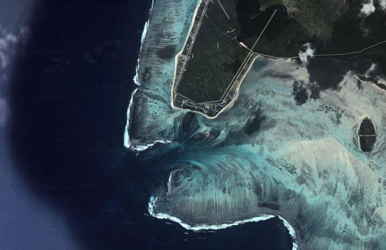 """Сателитска снимка направена со помош на сателитот """"DigitalGlobe"""""""