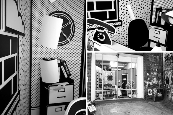 Канцеларија во поп-арт стил