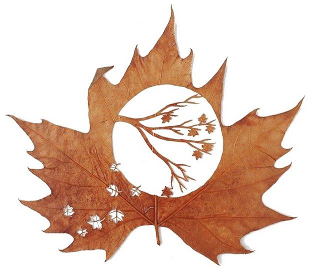 Вистинска уметност од есенски лисја