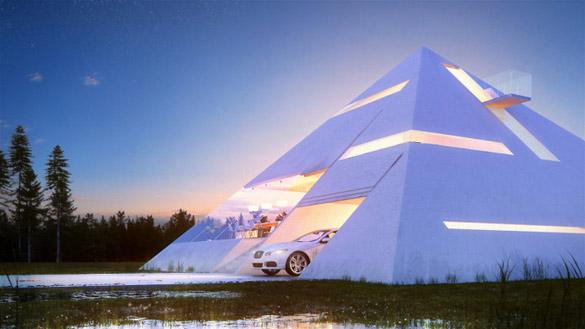 Куќа со форма на пирамида