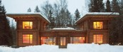 Минималистички дом направен од мермер и дрво
