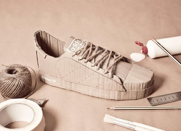 """""""Adidas"""" патики изработени од картон"""