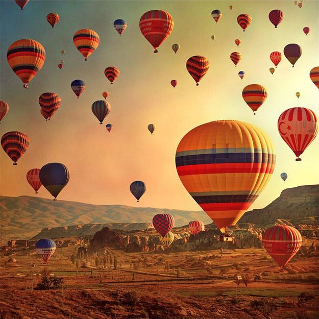 Со балон на топол воздух над Турција