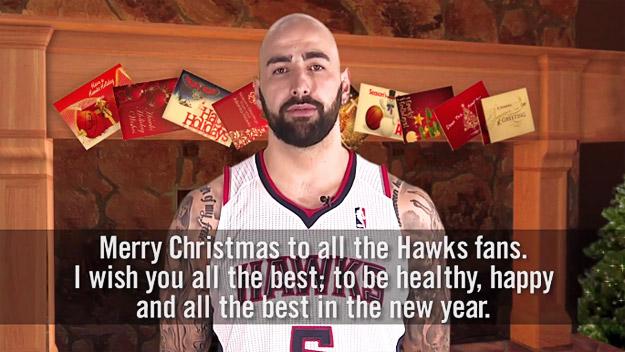 Перо Антиќ и кошаркарите на Атланта ви посакуваат среќни празници