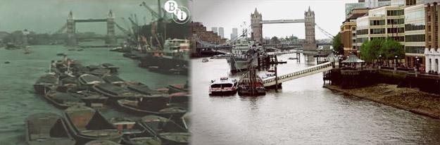 Како изгледал Лондон во 1927 година, а како изгледа денес