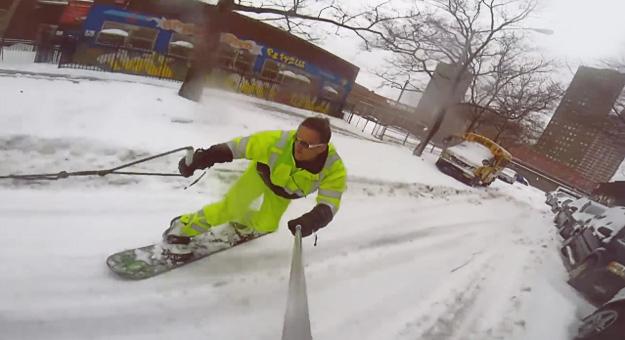 Забавната страна на снежната бура во Њујорк