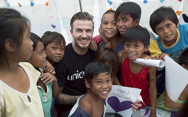 Дејвид Бекам со емотивна видео-порака од Филипините