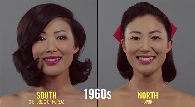 Како се менувала убавината на жените од Јужна и Северна Кореја