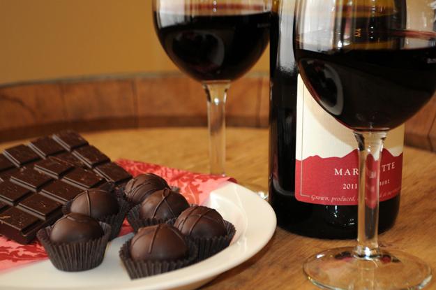 vino i cokolada