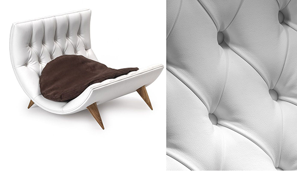 Luxury-curved-leather-bed