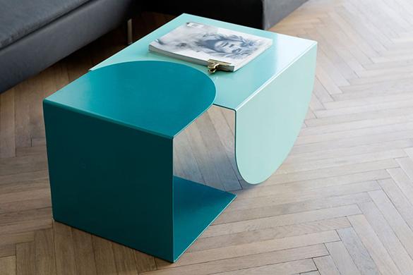 Small-apartment-remodel-in-Tel-Aviv-living-room-nesting-tables