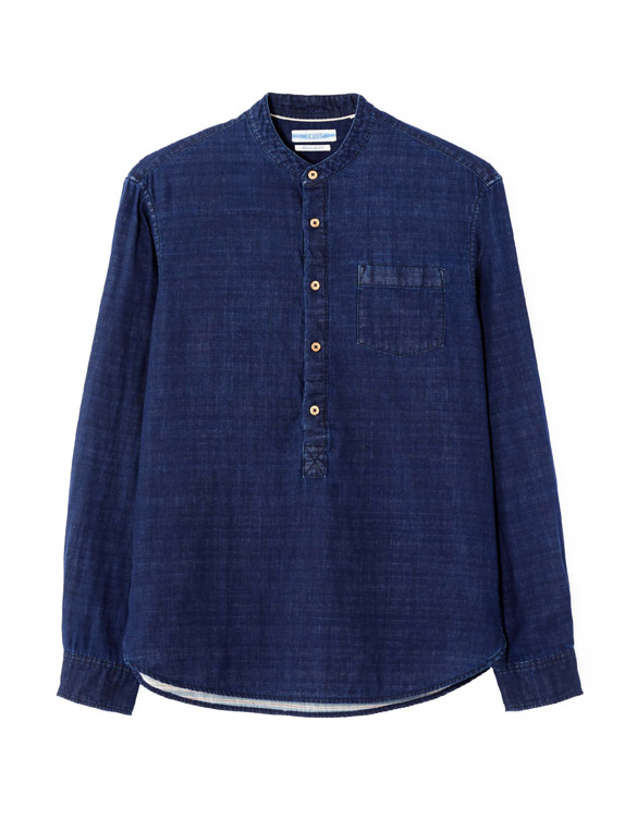 117-celio-chemise-coton-double-face-indigo